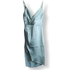 NWT Xtaren Satin Cowl Back Dress